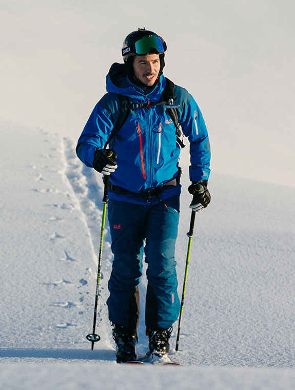 Man in ski touring scene